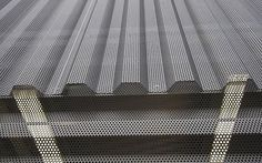 corrugated Architectural Metal Siding | Perforated corrugated panel (round holes) - ® ACOUSTIC