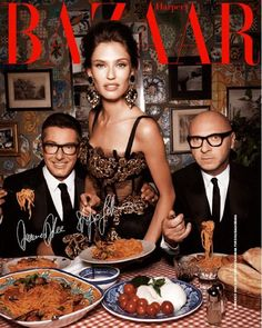 Domenico Dolce and Stefano Gabbana with Bianca Balti for Harper's Bazaar China, October 2012 Domenico Dolce & Stefano Gabbana, Bianca Balti, Merian, Fashion Cover, Before Wedding, Le Diner, Photoshoot Inspiration, Fashion Inspiration, Harpers Bazaar