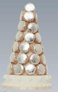 "This is the Christmas 2011 Ladurée ""Silver Macaron Pyramid."" See the catalog entry here: http://www.laduree.fr/_data/document/produit/506laduree-journal-de-noel-2011.pdf"