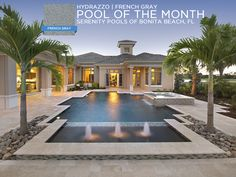 Hydrazzo French Gray has become one of the most popular polished finishes all across the world. #hydrazzo #pool #swimmingpool