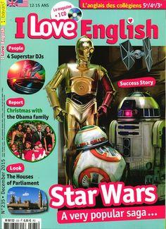 I love English 235 : reportage sur le Noël de la famille Obama ; dossier sur la saga Star Wars ; découverte de la maison du Parlement à Londres...