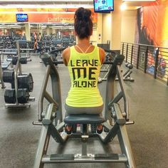 Love this! This is me. I workout solo. Bonding time for me, myself and I. I don't want company.
