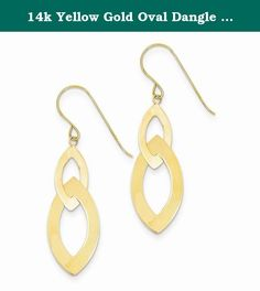 14k Yellow Gold Oval Dangle Beautiful Earrings. These beautiful earrings are sure to be the perfect addition to your own collection or as a gift to someone special. They come with Allure Jewelers 5 Star Satisfaction Guarantee. Allure Jewelers has an extensive assortment of jewelry, please feel free to browse through our other collections. Metal : Yellow Gold Metal Purity : 14k (Solid, Unplated) Actual Length : 45 mm Actual Width : 12.5 mm Actual Length : 1.77 in Actual Width : 0.49 in…