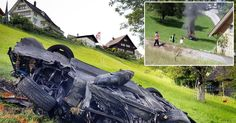 """The ex-Top Gear star was airlifted to hospital after what Jeremy Clarkson called the """"most frightening"""" crash he had ever seen when his 220mph supercar plunged 100ft down a hill before landing upside down and bursting into flames"""