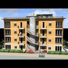 "@gruppoiffi's photo: ""#lidoblu #lidodicamaiore #versilia #appartamenti #classeA #realestate #picoftheday #render #building"""
