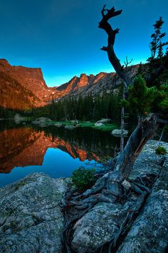 'Dreams Of Survival' by Mike Berenson - via Flickr. Dream Lake, Rocky Mountain National Park, Colorado