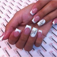 Getting healthy nails is all down to a proper care for nails. Find out how to get strong nails and paint them with the latest nail color and nail design trends. Fancy Nails, Bling Nails, My Nails, White Nail Art, White Nails, Fingernail Designs, Nail Art Designs, Nails Design, Prom Nails