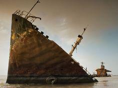 Ce pétrolier, sabordé près du Koweit, est une relique de la guerre Iran-Irak - National Geographic France