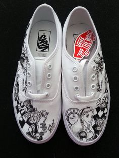 00a472286010 WRAPAROUND ARTWORK Disney s Alice in Wonderland Custom Made Shoes Artwork  and Shoes (ie. Vans