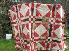 Moda Bake Shop: French General Jelly Roll Quilt  This looks like a great spring break project... I think I'll modify the white/red diamonds though.