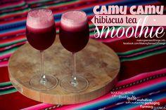 camu camu and hibiscus tea smoothie, recipe here: https://www.facebook.com/photo.php?fbid=596276747099671&set=a.288947854499230.72774.123763421017675&type=1&theater