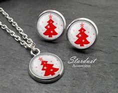 Schmuckset silber ❅ Weihnachtsbaum ❅ von Stardust Accessoires auf DaWanda.com