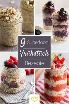 Mit unseren Superfood Frühstücks-Rezepten startest Du garantiert mit Power in den Tag. Quinoa und Chia-Samen geben dir den gesunden Energie-Kick den du brauchst!  Zu den Rezepten: bit.ly/Superfood-Frühstück