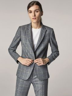 bf68ed1b37948 Autumn Winter 2017 Women´s SLIM FIT CHECKED WOOL SUIT BLAZER at Massimo  Dutti for