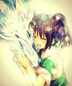 Унесенные призраками хаку и тихиро #spirited away #haku#dragon