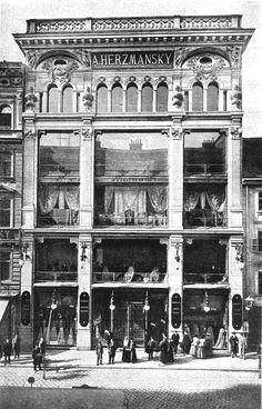 Warenhaus Herzmansky, Berlin Leipziger Straße,1898, Department Store.