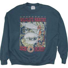 5d031197e714 Wildlife Conservation Sweatshirt Vintage Ducks Unlimited Made in USA  Sportsman Animals Nature Habitat 1990 s Men s Medium
