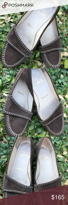 Christian louboutin ballet flat Suede shoes sz 36 Very nice comfortable shoes that has some used with scuffs on the bottom and trace of used inside. Christian Louboutin Shoes Flats & Loafers