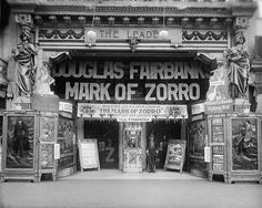 Mark Of Zorro Theater Storefront Douglas Fairbanks 1920 16x20 Photograph
