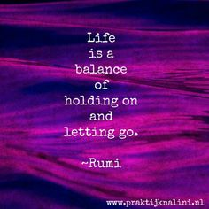 It is all about balance...
