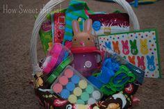 no candy easter baskets for kids | Toddler Easter Basket- No Candy!