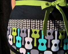 Loved the print! Very rockstar and could see this apron on a guy or a gal!