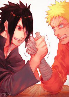 Hehehe I think Sasuke's winning ;)