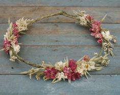 Boho Reinheit getrocknet Flower Hair Krone von EnglishFlowerFarmer