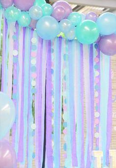 Little Mermaid Themed Birthday Party: Mermaid Theme Birthday Party - meerjungfrau geburtstag - Frozen Themed Birthday Party, Mermaid Theme Birthday, Little Mermaid Birthday, Little Mermaid Parties, 6th Birthday Parties, Birthday Ideas, Mermaid Themed Party, Baby Shower Mermaid Theme, Mermaid Baby Showers