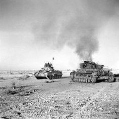 Operation Crusader, a British Crusader tank and a burning German Panzer IV, November 1941 Libya. Panzer Iv, Crusader Tank, Afrika Corps, Chief Of Naval Operations, North African Campaign, Armored Fighting Vehicle, Ww2 Tanks, British Army, British Tanks