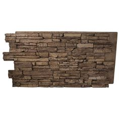 Superior Building Supplies Cinnamon 24 in. x 48 in. x 1-1/4 in. Faux Grand Heritage Stack Stone Panel - HD-COL2448-C - The Home Depot