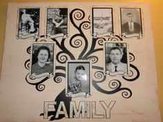 Canvas Decorations - Barbie cut this family tree from vinyl on her Klic-N-Kut. Very special and easy to create project.« TeamKNK