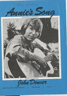JOHN DENVER -70's  sheet music-ANNIE'S SONG