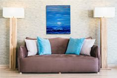 Sea oil painting Sea storm Sea painting Sea landscape