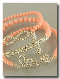 This set includes all gorgeous bracelets shown in picture. Bracelets are made with genuine crystals and are stretch fit. Perfect to wear together or seperately.