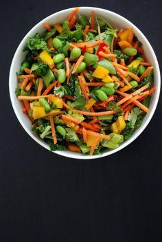 Asian Kale Salad with Edamame