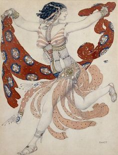 Leon Bakst Potiphar/'S Wife Giclee Art Paper Print Paintings Poster Reproduction