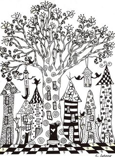village zentangle