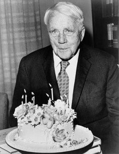 Robert Frost at 85,1959