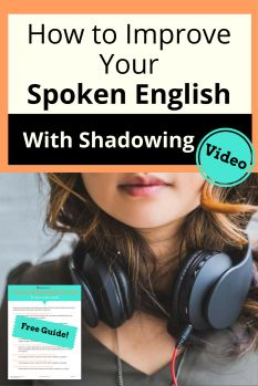How does shadowing improve your spoken English? Get ready to have fun listening to podcasts and playing with your face. Watch the video. FREE download English Tips, English Idioms, English Class, English Words, Learn English, English Language, Shadow Video, English Learning Spoken, Everyday English