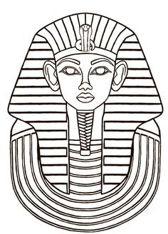 egyptian sarcophagus designs | Then I did a line drawing and started filling in some flat colors and ...