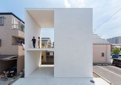Little House with a Big Terrace is a minimalist residence located in Tokyo, Japan, designed by Takuro Yamamoto. Little House with a Big Terrace is a lucid example of having large external space in. Architecture Design, Minimalist Architecture, Pavilion Architecture, Chinese Architecture, Architecture Office, Futuristic Architecture, Sustainable Architecture, Residential Architecture, Tiny House Design