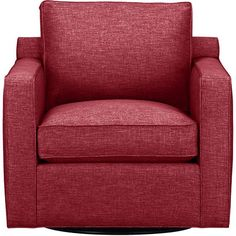 Davis Swivel Chair in Sofas | Crate and Barrel