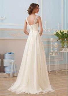 Buy discount Glamorous Tulle Sweetheart Neckline A-line Wedding Dresses With Beadings at Dressilyme.com