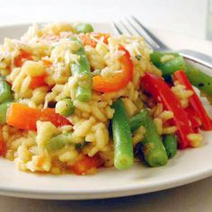 Sweet Pepper and Green Bean Risotto by Cooking Light