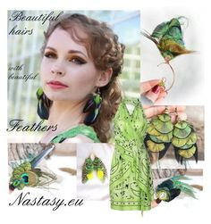 """Beautiful hairs with beautiful feathers ♥"" by nastasy-eu ❤ liked on Polyvore featuring Moschino"