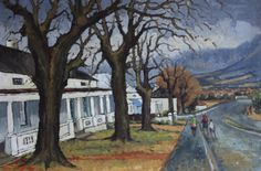 David Botha 'Cecilia Street after the Rain', 1978 African Paintings, South African Artists, Fine Art Gallery, 21st Century, Arts And Crafts, Rain, Passion, Street, Rain Fall
