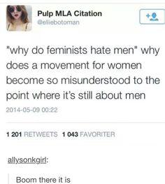It's still about men. Great.