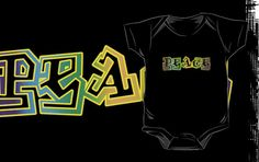 Abstract Peace onesie by Samuel Sheats
