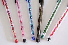 Voici une idée facile pour rendre vos stylos Bic un peu plus sympa et colorés... ! :)